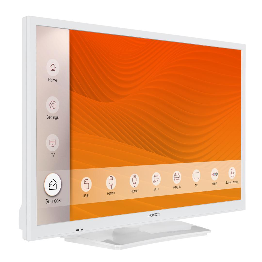"LED TV HORIZON 24HL6101H/B, 24"" Edge LED, HD Ready (720p), Digital TV- Tuner DVB-S2/T2/C, CME 100Hz, Contrast 3000:1, 220 cd/m2, 1xCI+, 2xHDMI (v1.4), 1xD-Sub (15-PIN), USB Player (AVI, MKV, H.265/HEVC, JPEG), Hotel TV Mode (Passive), VESA 75 x 75 mm|M4, Double Neck-Foot Stand, Very Narrow Design - imaginea 3"