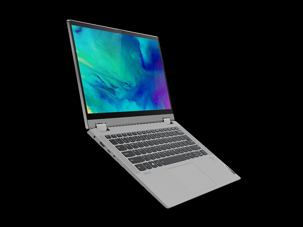 "Laptop Lenovo IdeaPad Flex 514ALC05, 14"" FHD (1920x1080) IPS 250nits Glossy, 45% NTSC, AMD Ryzen 3 5300U (4C / 8T, 2.6 / 3.8GHz, 2MB L2 / 4MB L3), video AMD Radeon Graphics, RAM 8GB Soldered DDR4-3200, SSD 256GB SSD M.2 2242 PCIe 3.0x4 NVMe, no ODD, 4-in-1 Card Reader, Stereo speakers, 2W x2, Dolby - imaginea 5"