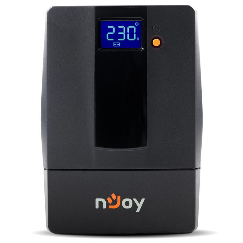 UPS nJoy Horus Plus 600, 600VA/360W, Afisaj LCD cu ecran tactil, 2 Prize Schuko cu Protectie, Repornire Automata, RJ11 protectie pentru linia de telefon/modem, Posibilitatea de monitorizare si control prin USB, LAN si internet, port de comunicare USB, rata de eficienta pana la 90% - imaginea 2