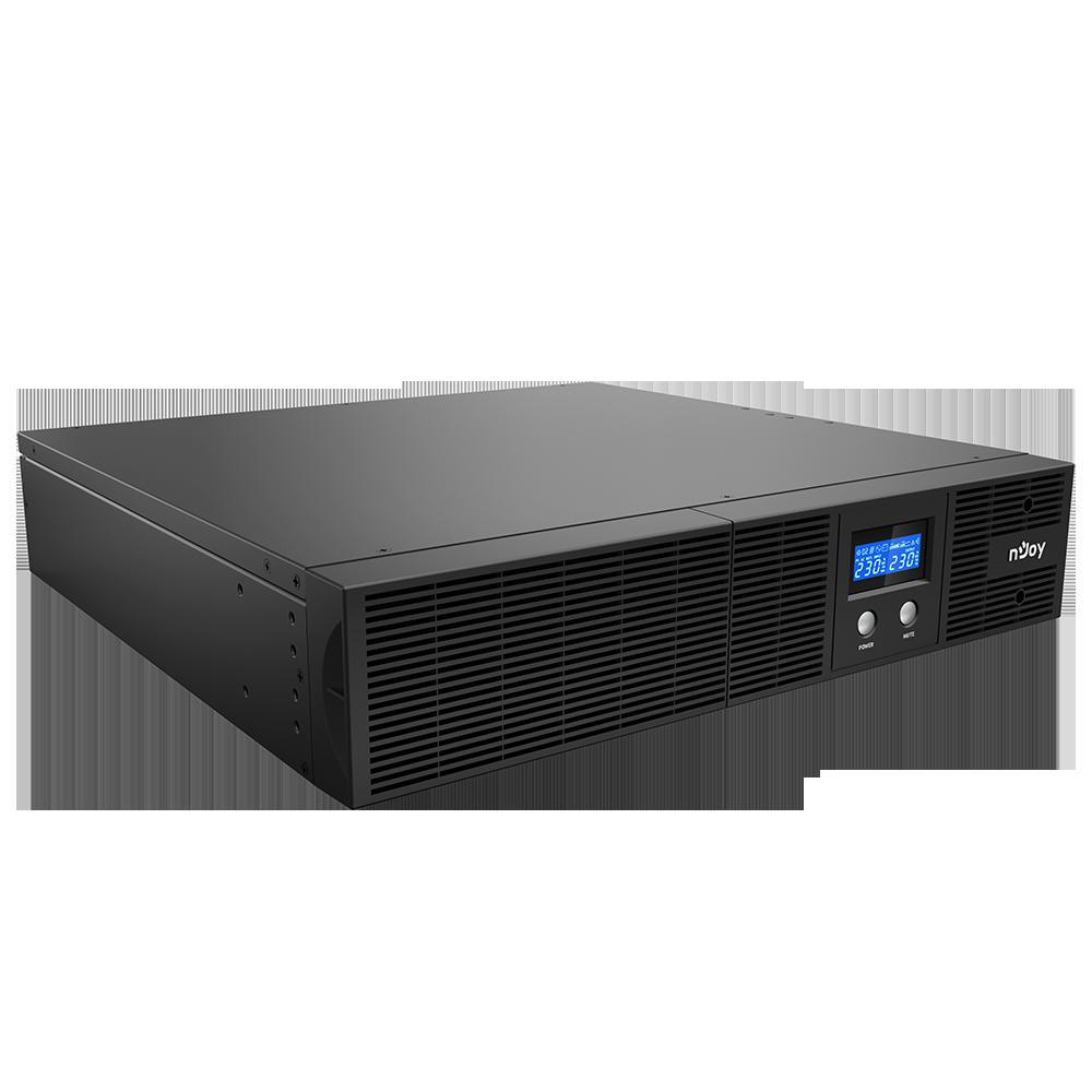 UPS nJoy Argus 3000, 3000VA/1800W, LCD Display, 8 IEC C13 cu Protectie, Management, Reglaj Automat al Tensiunii, iesire sinusoidala pura, rack 2U - imaginea 1