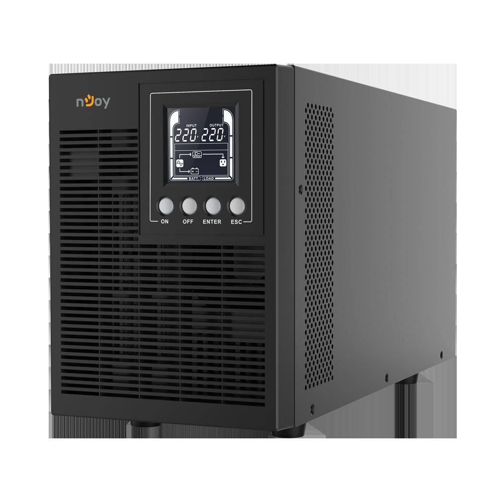 UPS nJoy Echo Pro 2000, 2000VA/1600W, On-line, LED, 3 prize Schuko - imaginea 1