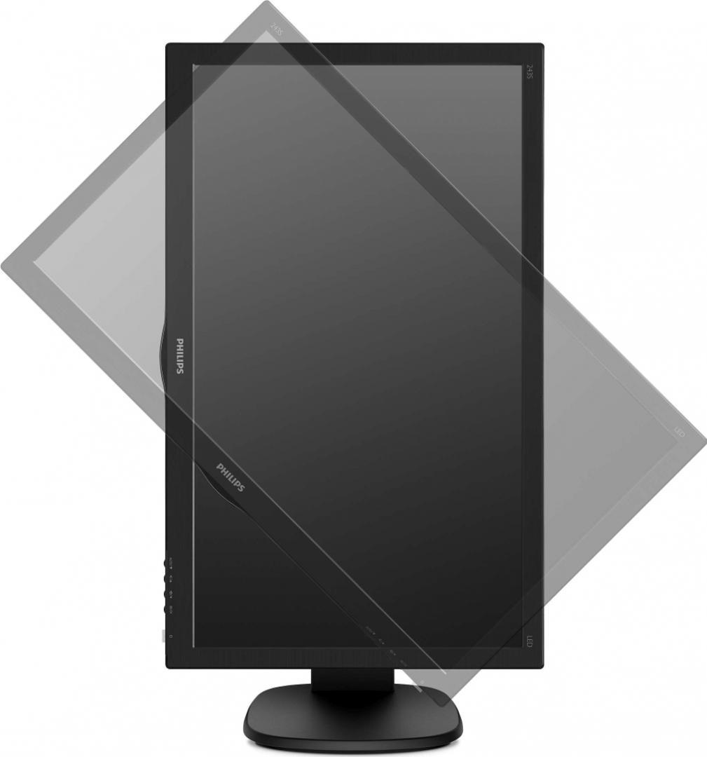 "Monitor 23.6"" PHILIPS 243S5LJMB, TFT-LCD, WLED, FHD 1920*1080, 1 ms ,16:9, 60 Hz, 170/160, 10M:1/ 10 - imaginea 2"