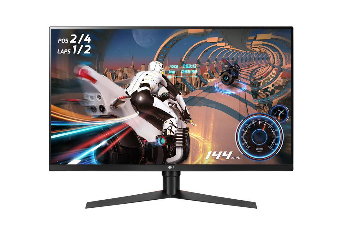 "Monitor 31.5"" LG 32GK850F-B, WQHD 2560x1440, VA, 16:9, 5 ms (1ms withMotion Blur Reduction), 400 cd/m2, 3000:1, 178/ 178, 144 Hz, an ti-glare3H, HDMI, DP, USB 3.0, headphone out, Free-Sync, Flicker safe, pivot,VESA 100*100, black - imaginea 1"