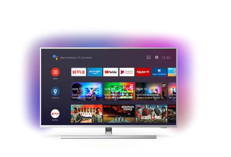 """Televizor LED PHILIPS 58PUS8505/12, 58"""", 4K UHD LED Android TV, Integrated Ambilight, 146 cm, 3,840 x 2,160, 16: 9, Ultra resolution, HDR10 +, Dolby Vision, Android TV ™ 9 (Pie), SimplyShare, Quad core, DVB-T / T2 / T2-HD / C / S / S2, Bluetooth 4.2, WLAN 802.11ac, 2 x 2 dual band, CI +, Ethernet - imaginea 1"""