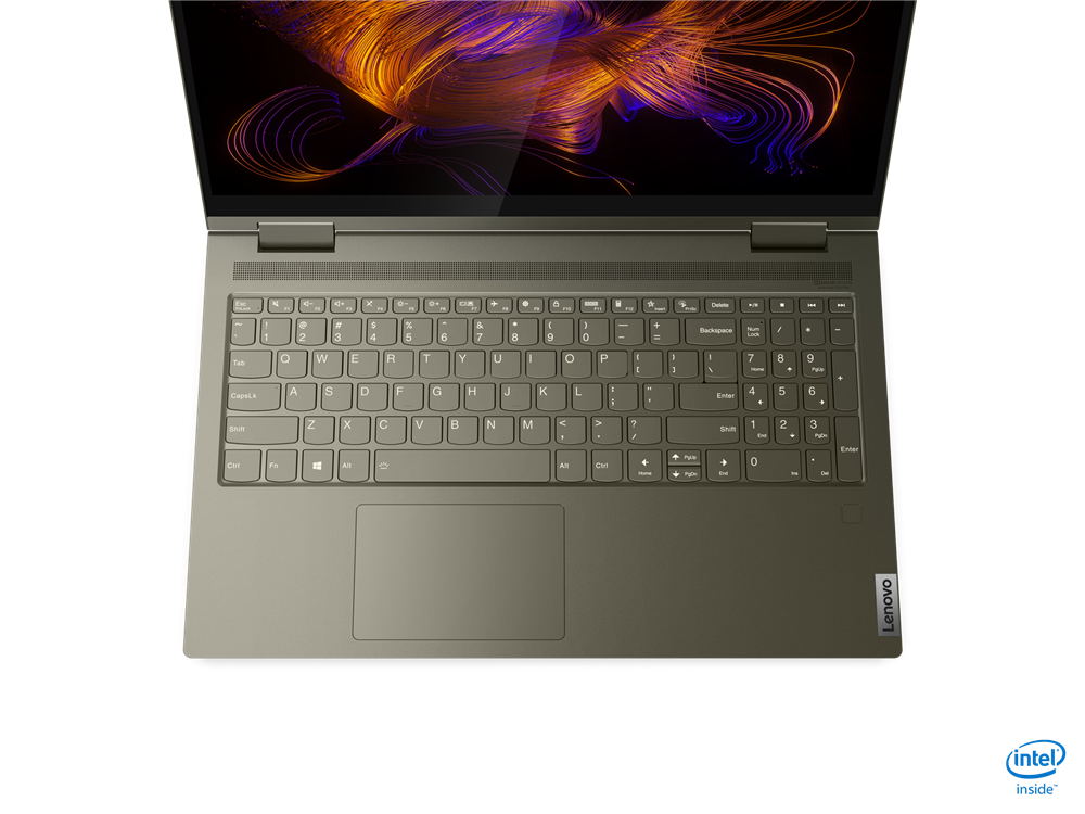 """Laptop Lenovo Yoga 7 15ITL5, 15.6"""" FHD (1920x1080) IPS 500nits Glossy, 100% sRGB, HDR 400, Dolby Vision, AGC Soda-lime glass, Intel Core i7- 1165G7 (4C / 8T, 2.8 / 4.7GHz, 12MB), video Integrated Intel Iris Xe Graphics, RAM 16GB Soldered DDR4-3200, SSD 1TB SSD M.2 2280 PCIe 3.0x4 NVMe, no ODD, No - imaginea 1"""
