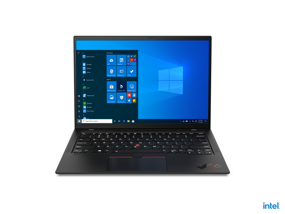 "Laptop Lenovo ThinkPad X1 Carbon Gen 9, 14"" UHD+ (3840x2400) IPS 500nits Glossy, HDR 400, Intel Core i7-1165G7 (4C / 8T, 2.8 / 4.7GHz, 12MB), Video Integrated Intel Iris Xe Graphics, RAM 16GB Soldered LPDDR4x-4266, SSD 512GB SSD M.2 2280 PCIe 4.0x4 Performance NVMe Opal2, Optical: no ODD, No card - imaginea 5"