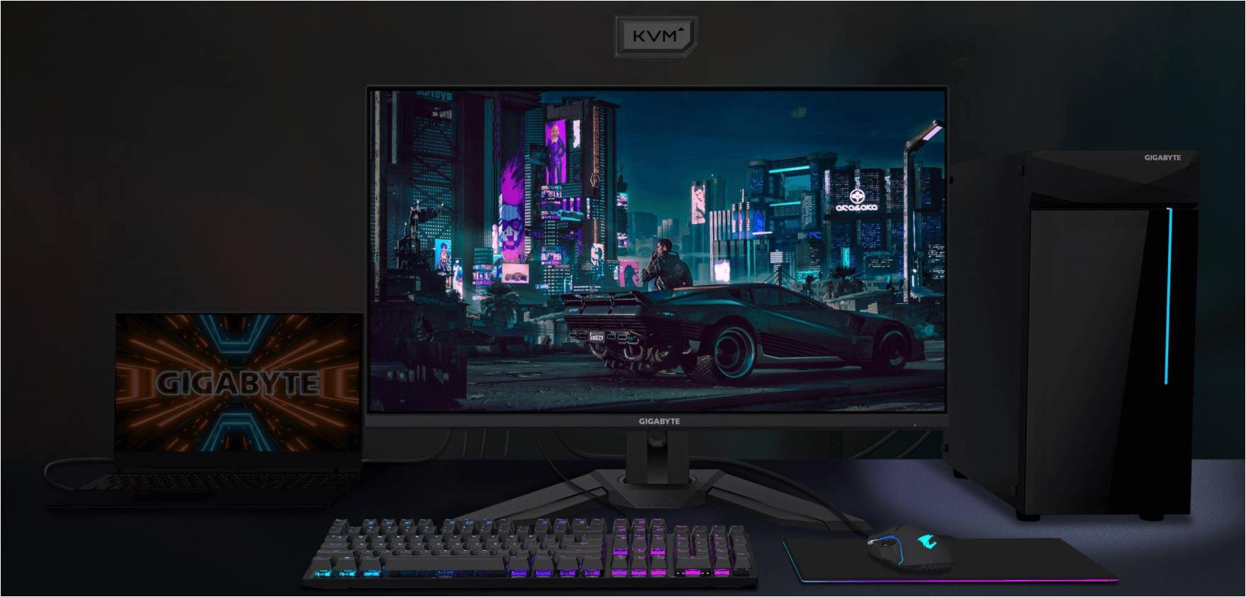 """Monitor Gaming Gigabyte M32Q 31.5"""", ips, 2560 x 1440 (QHD), Non-glare, Brightness, 350 cd/m2 (TYP), Contrast Ratio:1000:1, Viewing Angle: 178° (H)/178°(V), Display Colors: 8 bits, Response Time: 0.8ms (MPRT)/1ms (GTG), Refresh Rate: 165Hz/OC 170Hz, Flicker-free. - imaginea 1"""