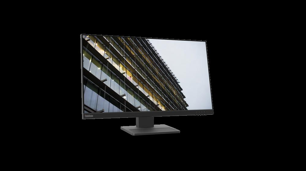 """Monitor Lenovo ThinkVision E24-2023.8"""" IPS, FHD (1920x1080), 16:9 ,Luminozitate: 250 nits, Contrast ratio: 1000:1, Response time: 14ms, Dot/ Pixel Per Inch: 92 dpi, Color Gamut: 72% NTSC, View angle: 178 / 178,Stand: Tilt, Pivot, Height Adjust Stand, Side Bezel Wid th: 3.1 mm,Dimensiune (cu stand) - imaginea 2"""