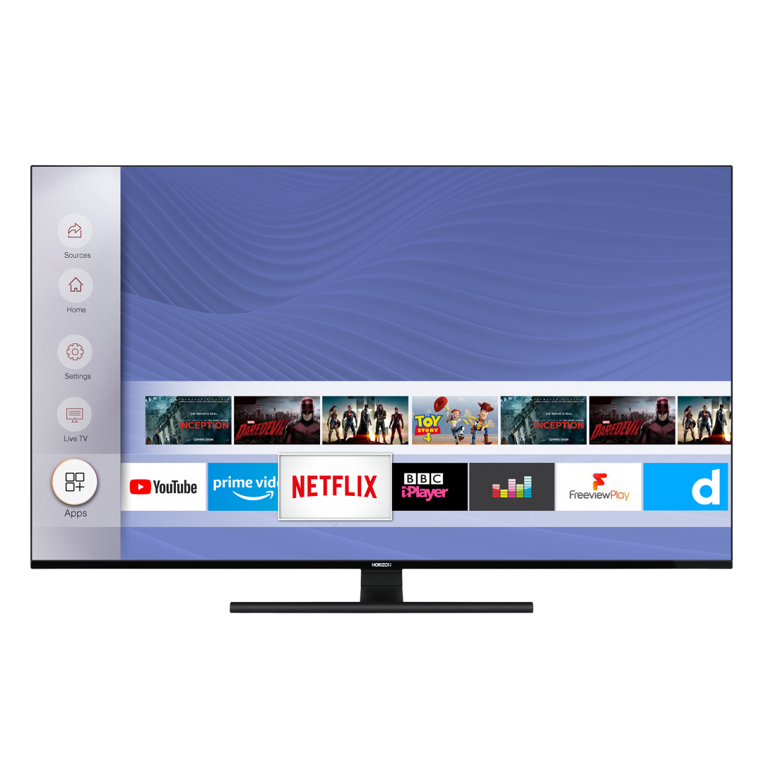 "LED TV 65"" HORIZON 4K-SMART 65HL8530U/BA, Direct LED, 4K Ultra HD (3840 x 2160), DVB-S2/T2/C, Very Narrow Design (12mm), Dolby Vision, HDR10, HLG, CME 800, WiFi Built-In, Wireless Display, DLNA, HORIZON Smart TV, ( Netflix, YouTube, Prime Video), Contrast 6000:1, 350 cd/m2, CI+, 4xHDMI, 2xUSB, Hotel - imaginea 1"