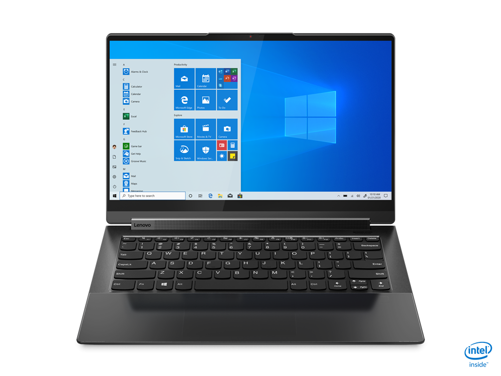 """Laptop Lenovo Yoga 7 14ITL5, 14"""" FHD (1920x1080) IPS 300nits Glossy, 72% NTSC, AGC Dragontrail glass, 10-point Multi-touch, Intel Core i7-1165G7 (4C / 8T, 2.8 / 4.7GHz, 12MB), video Integrated Intel Iris Xe Graphics, RAM 16GB Soldered DDR4-3200, SSD 1TB SSD M.2 2280 PCIe 3.0x4 NVMe, no ODD, No Card - imaginea 11"""