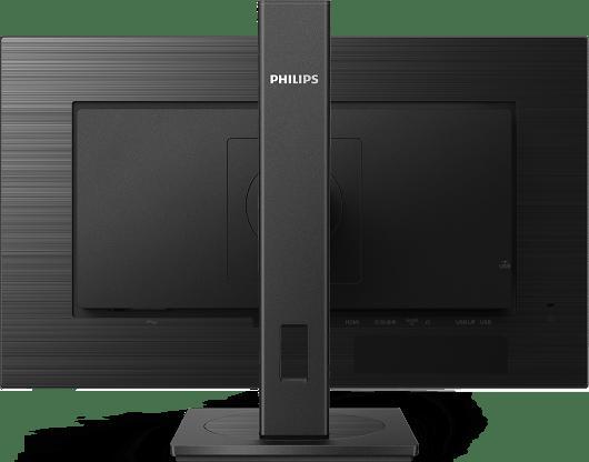 "Monitor 23.8"" PHILIPS 242B1V, anti-glare 3H, haze 25%, 16:9, FHD 1920* 1080, 75 Hz, 4 ms, 350 cd/mp, 1000:1, 178/178, flicker free, EasyRead, LowBlue Mode, Adaptive sync, VGA, DVI, DP, HDMI, 4*USB, boxe 2*2W, headphone out, Kensington lock, VESA 100x 100, pivot, cabluri VGA/ HDMI/ DP/ audio incluse - imaginea 1"