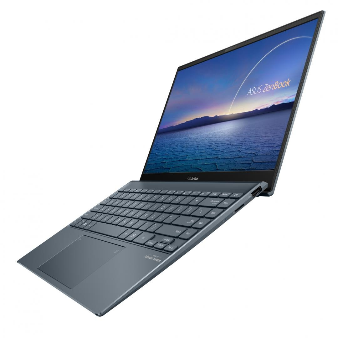 UltraBook ASUS ZenBook  UX325EA-KG257T, 13.3-inch, FHD (1920 x 1080) 16:9, OLED, Glossy display, Intel® Core™ i7-1165G7 Processor 2.8 GHz (12M Cache, up to 4.7 GHz, 4 cores), Intel Iris Xᵉ Graphics (available for 11th Gen Intel® Core™ i5/i7 with dual channel memory), 8GB LPDDR4X on board, 512GB M.2 - imaginea 1