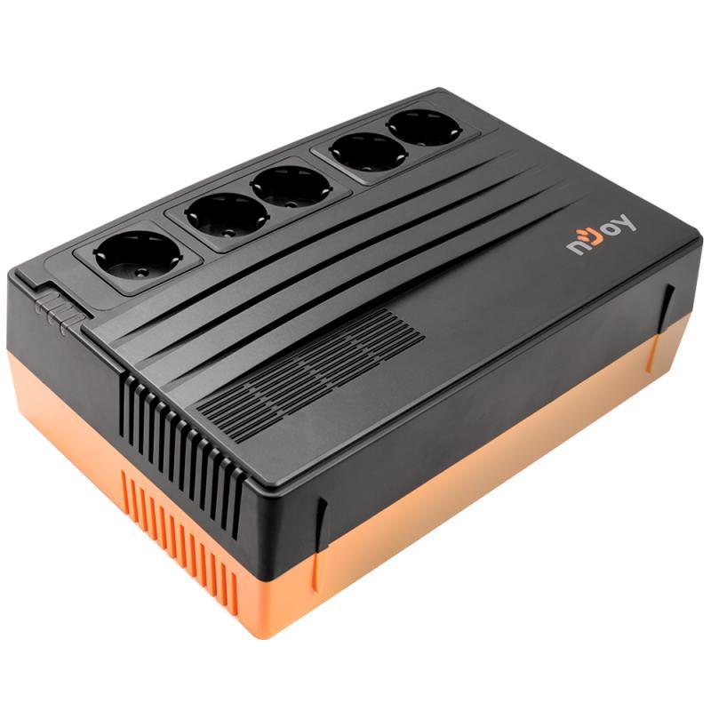 UPS nJoy Shed 625, 625VA/375W, 5 Prize Schuko cu protectie din care 4 legate la baterie, Management, Reglaj Automat al Tensiunii, Protectie LAN si Coaxial - imaginea 2