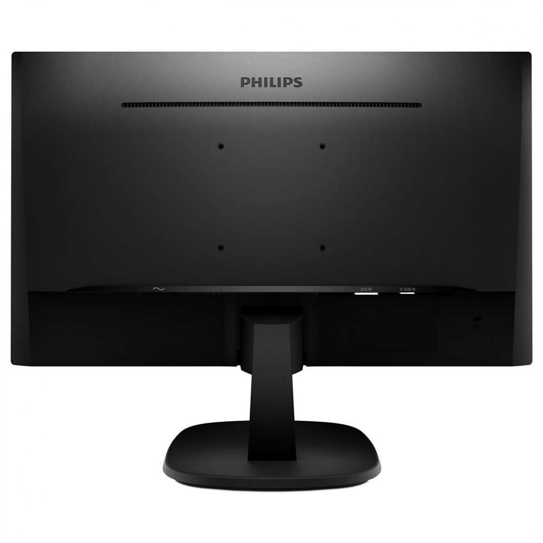 "Monitor 27"" PHILIPS 273V7QDSB, FHD 1920*1080, 60 Hz, 250 cd/mp, 16:9 ,WLED, IPS, 1000:1, 5 ms, anti-glare 3H, 178/178, LowBlue Mode, Flicker-free, VGA, DVI, HDMI, Kensington lock, VESA 100x100, 3-sided frameless,cablu VGA inclus, culoare negru - imaginea 2"