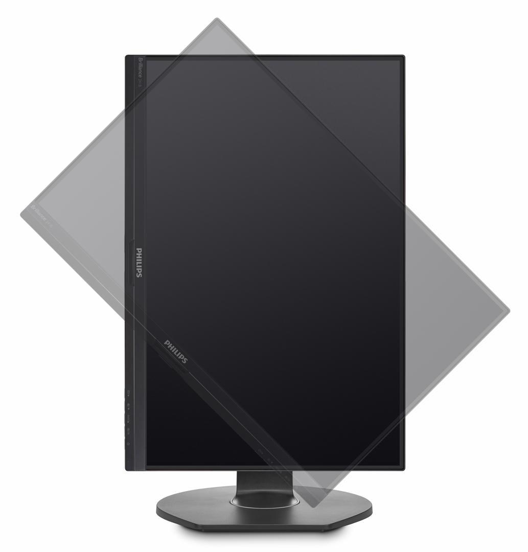 "Monitor 23.8"" PHILIPS 241B7QUPEB cu andocare USB, FHD 1920* 1080, IPS ,16:9, 60hz, WLED, 5 ms, 250 cd/m2, 20M:1/ 1000:1, 178/178, Flicker free,low blue mode, VGA, USB, VESA, pivot, Speakers, Kensington lock, Black - imaginea 5"