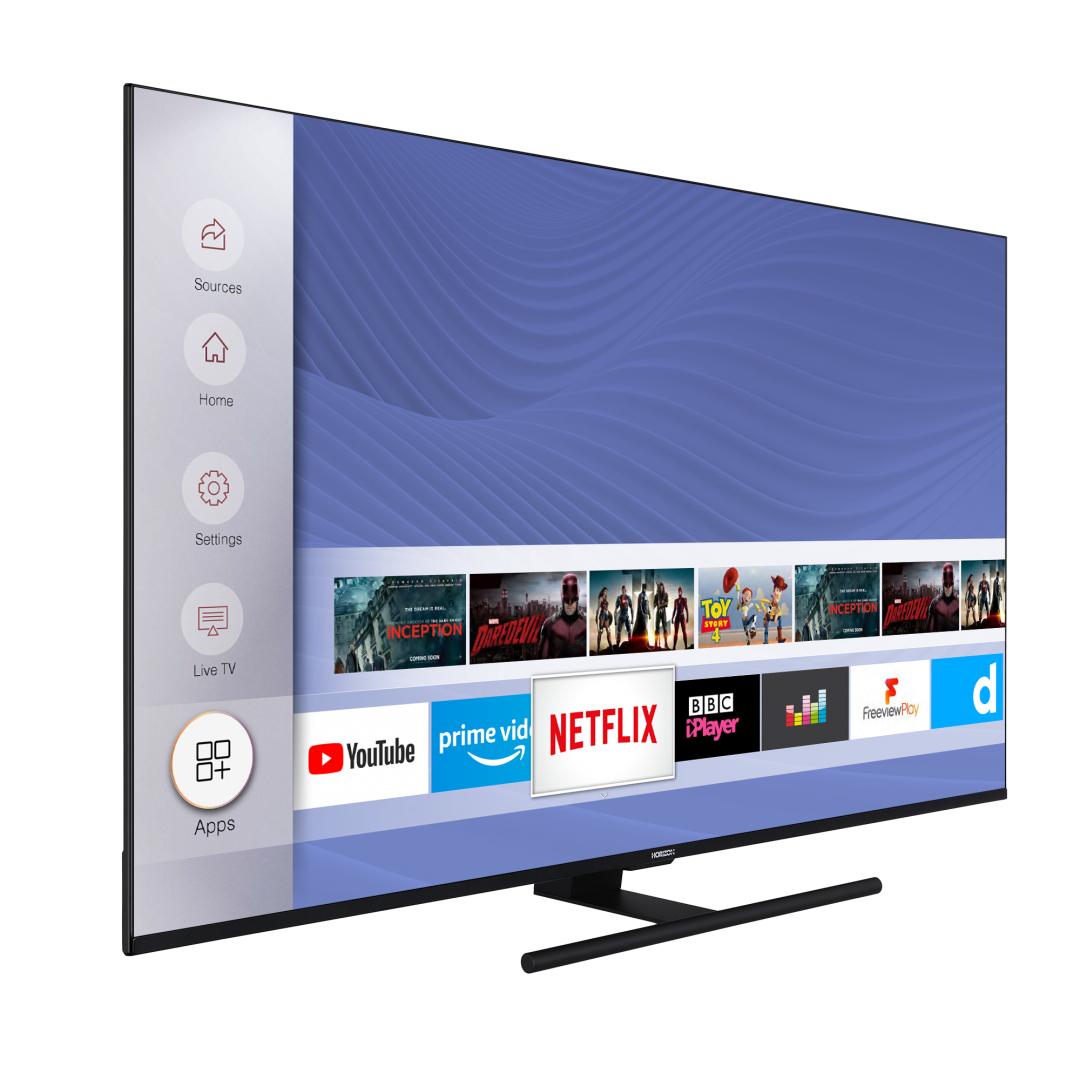 "LED TV 65"" HORIZON 4K-SMART 65HL8530U/BA, Direct LED, 4K Ultra HD (3840 x 2160), DVB-S2/T2/C, Very Narrow Design (12mm), Dolby Vision, HDR10, HLG, CME 800, WiFi Built-In, Wireless Display, DLNA, HORIZON Smart TV, ( Netflix, YouTube, Prime Video), Contrast 6000:1, 350 cd/m2, CI+, 4xHDMI, 2xUSB, Hotel - imaginea 3"