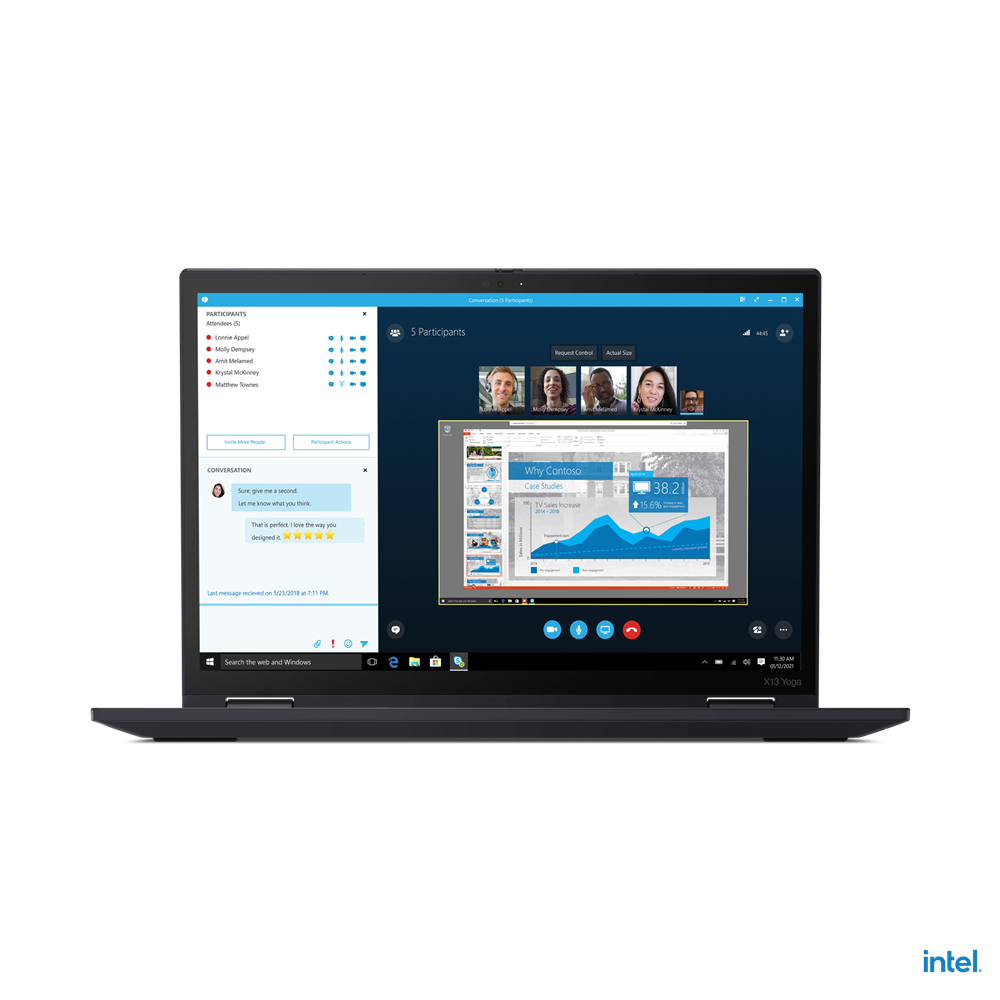 "Laptop Lenovo ThinkPad X13 Yoga Gen 2 (Intel), 13.3"" WQXGA (2560x1600) Low Power IPS 400nits AR (anti-reflection) / AS (anti-smudge), Touch, Lenovo Integrated Pen (Garaged), Intel Core i7-1165G7 (4C / 8T, 2.8 / 4.7GHz, 12MB), Video Integrated Intel Iris Xe Graphics, RAM 16GB Soldered LPDDR4x-4266 - imaginea 1"