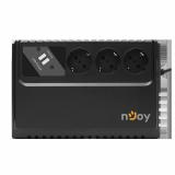 UPS nJoy Renton 650 USB, 650VA/360W, 3 Prize Schuko cu protectie, legate la baterie, functie auto-restart, forma compacta - imaginea 3