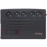 UPS nJoy Shed 625, 625VA/375W, 5 Prize Schuko cu protectie din care 4 legate la baterie, Management, Reglaj Automat al Tensiunii, Protectie LAN si Coaxial - imaginea 3