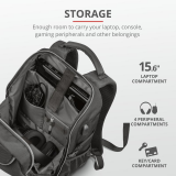 """Rucsac Trust GXT 1255 Outlaw Gaming Backpack 15.6"""" Black - imaginea 10"""