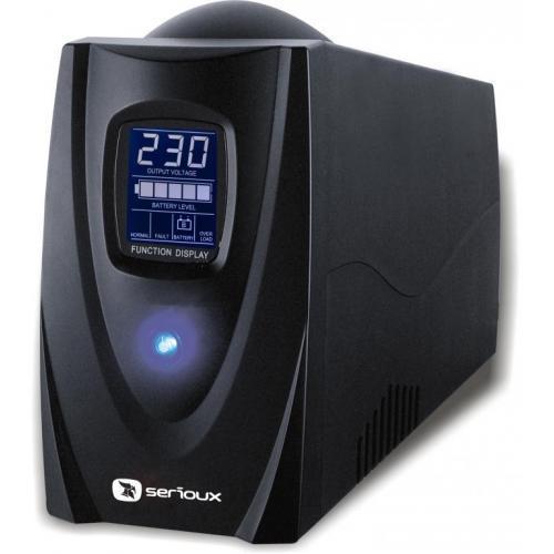 UPS Serioux, ProtectIT 850LS, 850VA, >12min back-up (half load), 4 porturi schuko, ecran LCD, negru - imaginea 1