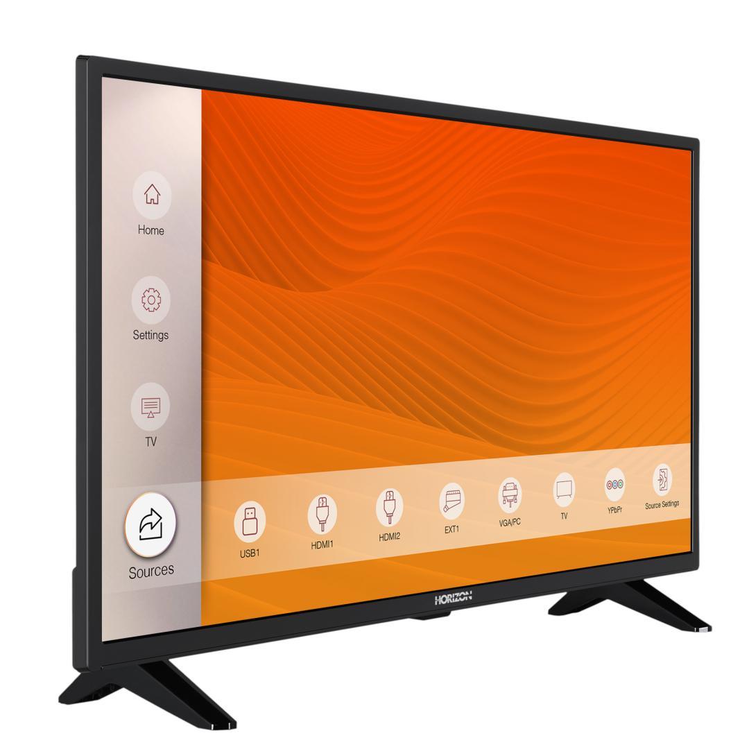 "LED TV HORIZON 32HL6300H/B, 32"" D-LED, HD Ready (720p), Digital TV-Tuner DVB-S2/T2/C, CME 100Hz, Contrast 4000:1, 300 cd/m2, 1xCI+, 2xHDMI (v1.4), 1xD-Sub (15-PIN), USB Player (AVI, MKV, H.265/HEVC, JPEG), Hotel TV Mode (Passive), VESA 75 x 75 mm   M4, Double Neck-Foot Stand, Very Narrow Design - imaginea 3"