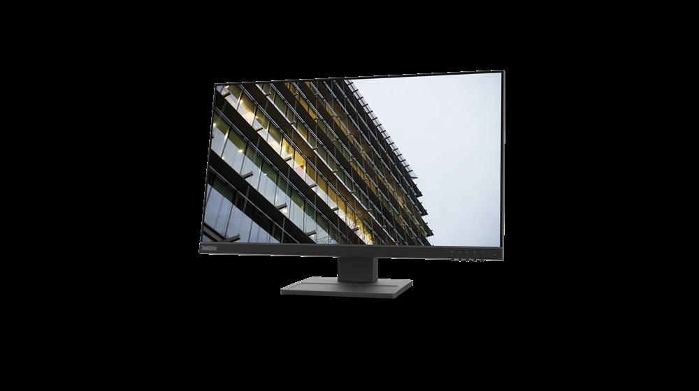 """Monitor Lenovo ThinkVision E24-2023.8"""" IPS, FHD (1920x1080), 16:9 ,Luminozitate: 250 nits, Contrast ratio: 1000:1, Response time: 14ms, Dot/ Pixel Per Inch: 92 dpi, Color Gamut: 72% NTSC, View angle: 178 / 178,Stand: Tilt, Pivot, Height Adjust Stand, Side Bezel Wid th: 3.1 mm,Dimensiune (cu stand) - imaginea 3"""