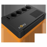 UPS nJoy Soter 600, 600VA/ 360W, 4 Prize Schuko cu protectie, functie auto-restart, Stabilizator de tensiune (AVR), Plaja acceptata tensiune intrare: 170-280 VAC, Timp de transfer: 2-6 ms, Frecventa: 60/50 Hz (auto sensing), Protectie RJ45/RJ11: 1 intrare / 1 iesire, Dimensiuni fizice: 245 x 163 x - imaginea 2
