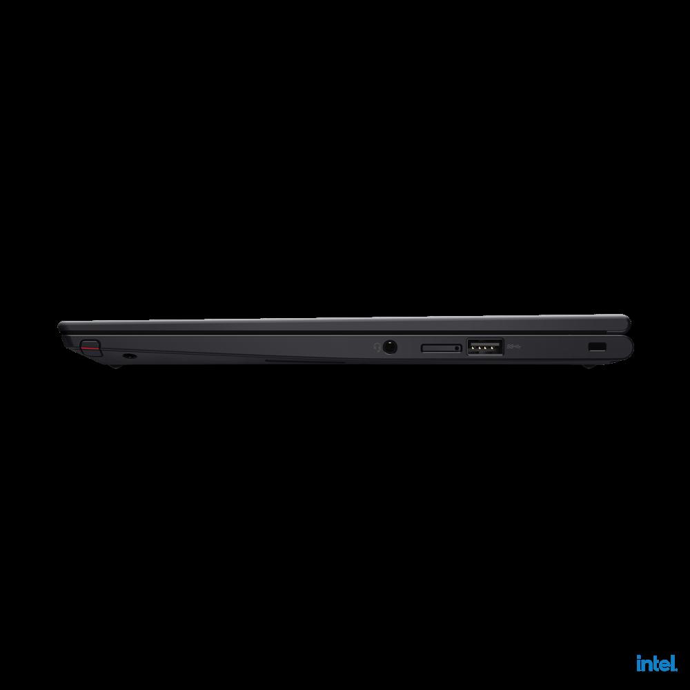 "Laptop Lenovo ThinkPad X13 Yoga Gen 2 (Intel), 13.3"" WQXGA (2560x1600) Low Power IPS 400nits AR (anti-reflection) / AS (anti-smudge), Touch, Lenovo Integrated Pen (Garaged), Intel Core i7-1165G7 (4C / 8T, 2.8 / 4.7GHz, 12MB), Video Integrated Intel Iris Xe Graphics, RAM 16GB Soldered LPDDR4x-4266 - imaginea 14"
