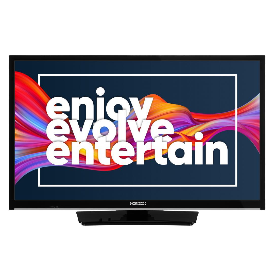 "LED TV HORIZON SMART 24HL6130H/B, 24"" Edge LED, HD Ready (720p), Digital TV-Tuner DVB-S2/T2/C, CME 200Hz, HOS 3.0 SmartTV-UI (WiFi built-in) +Netflix +AmazonAlexa +Youtube, 1xLAN (RJ45), Wireless Display, DLNA 1.5, Contrast 3000:1, 220 cd/m2, 1xCI+, 2xHDMI (v1.4), 1xUSB, 1xD-Sub (15-PIN), USB Player - imaginea 2"