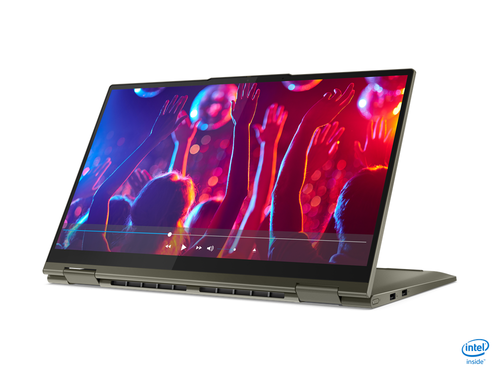 """Laptop Lenovo Yoga 7 15ITL5, 15.6"""" FHD (1920x1080) IPS 500nits Glossy, 100% sRGB, HDR 400, Dolby Vision, AGC Soda-lime glass, Intel Core i7- 1165G7 (4C / 8T, 2.8 / 4.7GHz, 12MB), video Integrated Intel Iris Xe Graphics, RAM 16GB Soldered DDR4-3200, SSD 1TB SSD M.2 2280 PCIe 3.0x4 NVMe, no ODD, No - imaginea 4"""