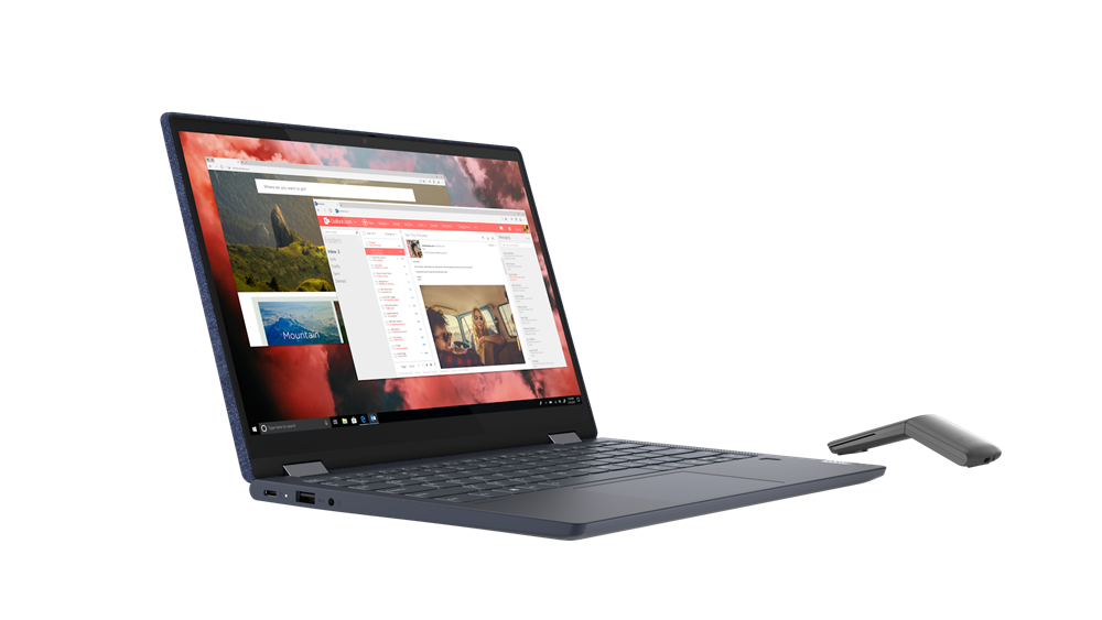 """Laptop Lenovo Yoga 6 13ARE05, 13.3"""" FHD (1920x1080) IPS 300nits Glossy, 72% NTSC, 10-point Multi-touch, AMD Ryzen 5 4500U (6C / 6T, 2.3 / 4.0GHz, 3MB L2 / 8MB L3), video Integrated AMD Radeon Graphics, RAM 16GB Soldered DDR4-3200, SSD 1TB SSD M.2 2280 PCIe 3.0x4 NVMe, no ODD, No Card reader, Stereo - imaginea 12"""