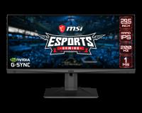 "Monitor Gaming 29.5"" MSI Optix MAG301RF, Flat, LED, Panel Type Rapid IPS, WFHD 2560 x 1080, 200Hz, 21:9, Anti-glare, Display colors 1.07B (8bits + FRC), G-sync Compatible, Frameless design, 1ms GTG, 300 cd/m², 1000:1 static / 100000000:1 dinamic, 178° (H) / 178° (V), Porturi: 1x Display Port (1.2a) - imaginea 1"