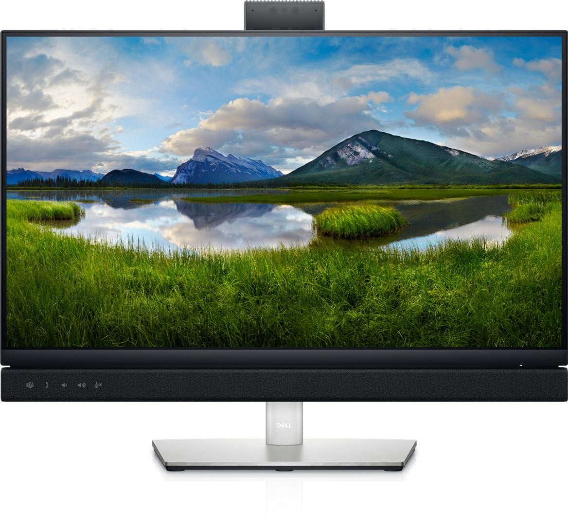 Dell  Video Conferencing Monitor 23.8'' C2422HE, 60.47cm, LED, IPS, FHD, 1920 x 1080 at 60Hz, 16:9 - imaginea 1