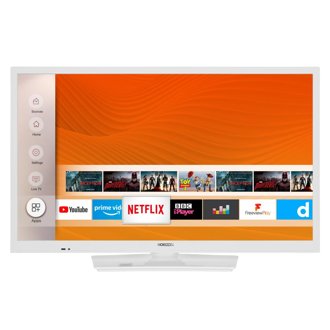 "LED TV HORIZON SMART 24HL6131H/B, 24"" Edge LED, HD Ready (720p), Digital TV-Tuner DVB-S2/T2/C, CME 200Hz, HOS 3.0 SmartTV-UI (WiFi built-in) +Netflix +AmazonAlexa +Youtube, 1xLAN (RJ45), Wireless Display, DLNA 1.5, Contrast 3000:1, 220 cd/m2, 1xCI+, 2xHDMI (v1.4), 1xUSB, 1xD-Sub (15-PIN), USB Player - imaginea 1"