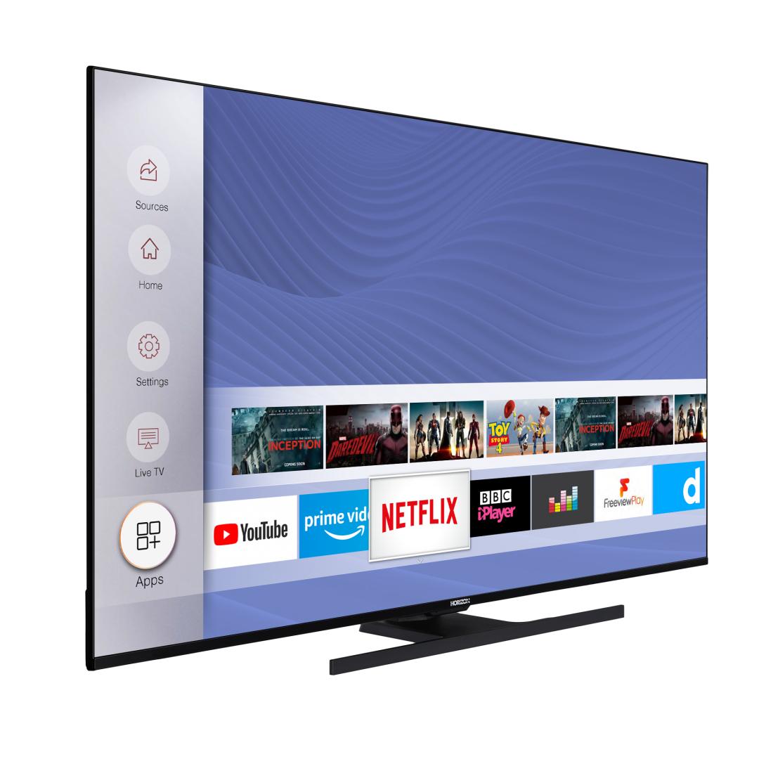 "LED TV HORIZON 4K-SMART 55HL8530U/B, 55"" D-LED, 4K Ultra HD (2160p), HDR10 / HLG + MicroDimming, Digital TV-Tuner DVB-S2/T2/C, CME 400Hz, HOS 3.0 SmartTV-UI (WiFi built-in) +Netflix +AmazonAlexa +Youtube, 1xLAN (RJ45), Wireless Display, DLNA 1.5, Contrast 6000:1, 350 cd/m2, 1xCI+, 3xHDMI, 1xUSB - imaginea 3"