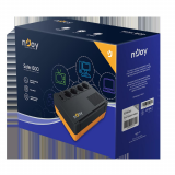 UPS nJoy Soter 600, 600VA/ 360W, 4 Prize Schuko cu protectie, functie auto-restart, Stabilizator de tensiune (AVR), Plaja acceptata tensiune intrare: 170-280 VAC, Timp de transfer: 2-6 ms, Frecventa: 60/50 Hz (auto sensing), Protectie RJ45/RJ11: 1 intrare / 1 iesire, Dimensiuni fizice: 245 x 163 x - imaginea 4