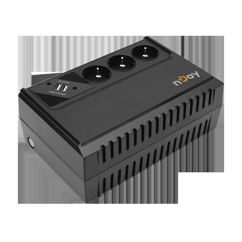 UPS nJoy Renton 650 USB, 650VA/360W, 3 Prize Schuko cu protectie, legate la baterie, functie auto-restart, forma compacta - imaginea 5