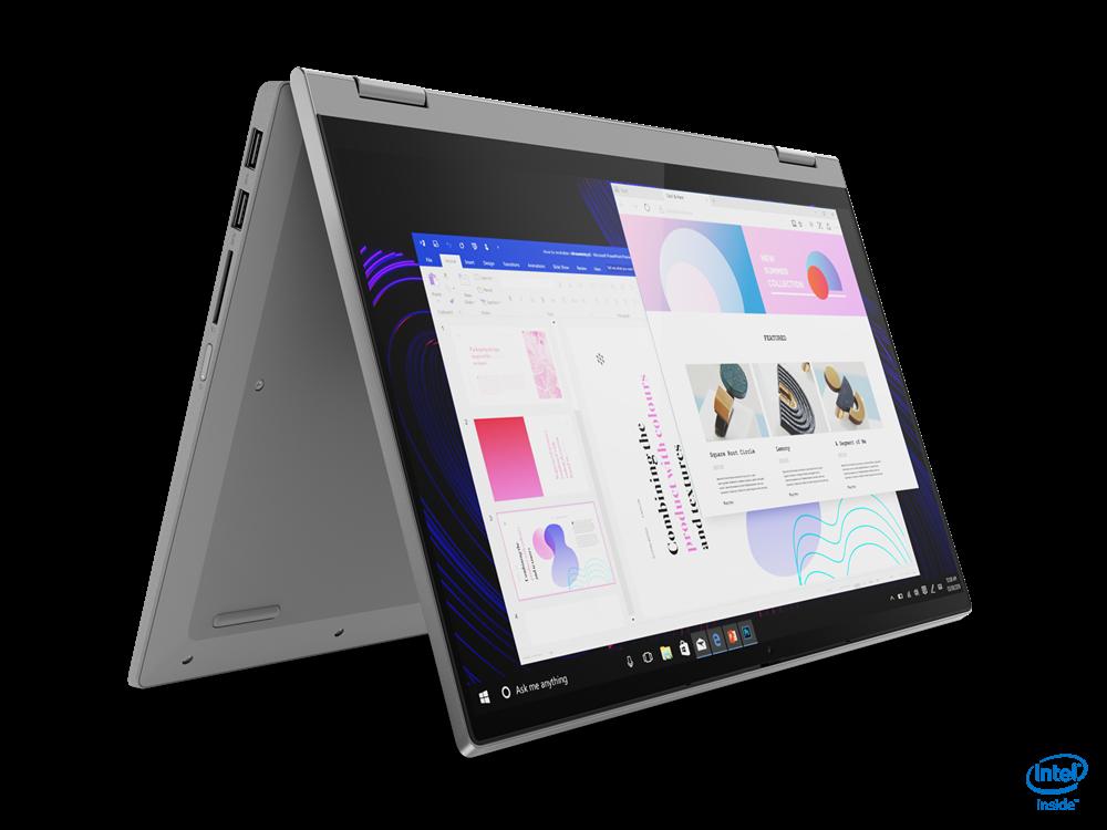 "Laptop Lenovo IdeaPad Flex 514ITL05, 14"" FHD (1920x1080) IPS 250nits Glossy, 45% NTSC, Intel Core i7-1165G7 (4C / 8T, 2.8 / 4.7GHz, 12MB), video Integrated Intel Iris Xe Graphics, RAM 16GB Soldered DDR4-3200, SSD 512GB SSD M.2 2280 PCIe 3.0x4 NVMe, no ODD, 4-in-1 Card Reader, Stereo speakers, 2W x2 - imaginea 20"