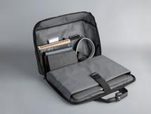 """Geanta notebook Serioux, SMART TRAVEL ST9610, dimensiuni 43 x 11 x 30 cm, rezistent la apa, compartimente multiple, compartimet laptop pana la 15.6"""", bretea spate pentru prindere troller, curea de umar ajustabila, material poliester - imaginea 4"""