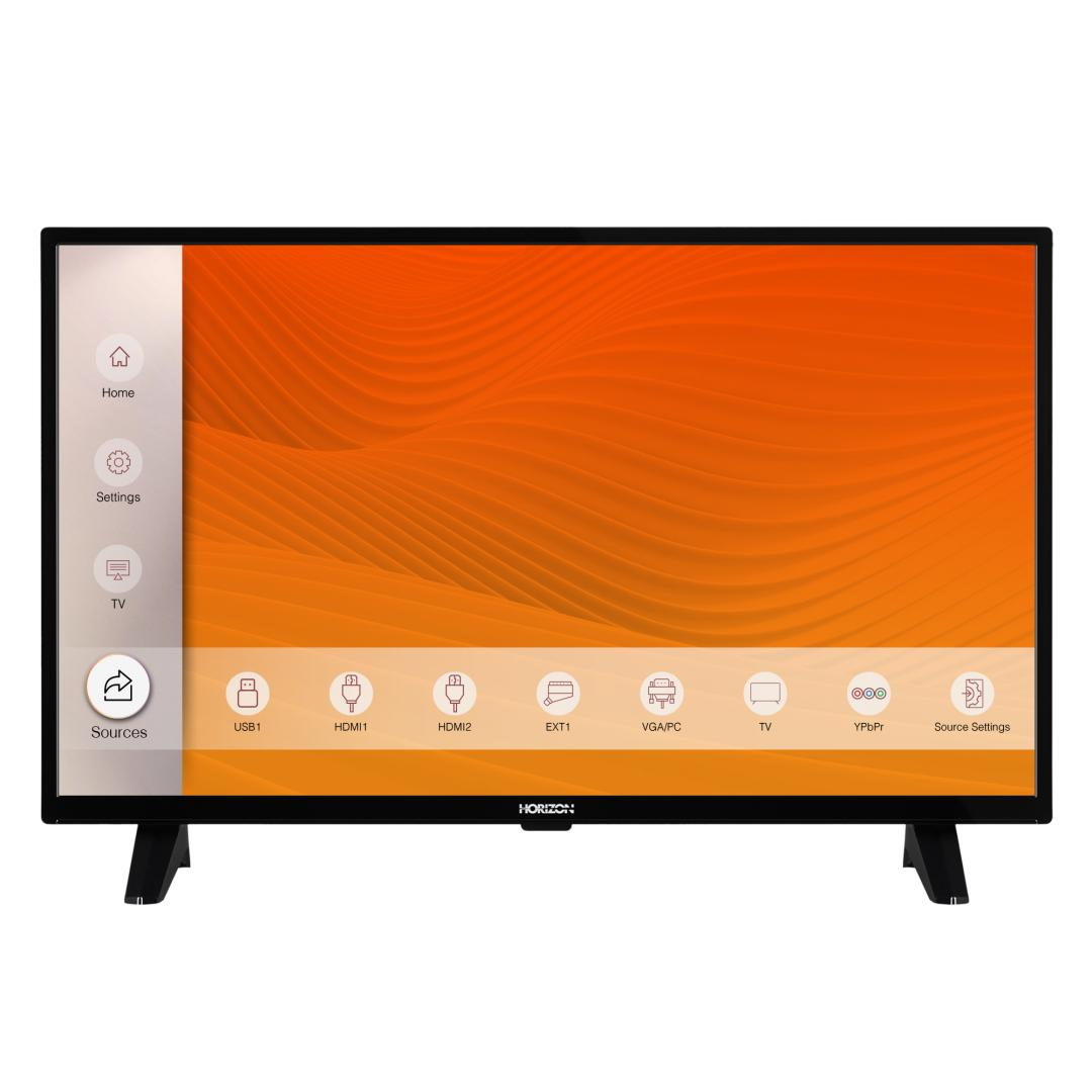 "LED TV HORIZON 32HL6300H/B, 32"" D-LED, HD Ready (720p), Digital TV-Tuner DVB-S2/T2/C, CME 100Hz, Contrast 4000:1, 300 cd/m2, 1xCI+, 2xHDMI (v1.4), 1xD-Sub (15-PIN), USB Player (AVI, MKV, H.265/HEVC, JPEG), Hotel TV Mode (Passive), VESA 75 x 75 mm   M4, Double Neck-Foot Stand, Very Narrow Design - imaginea 1"