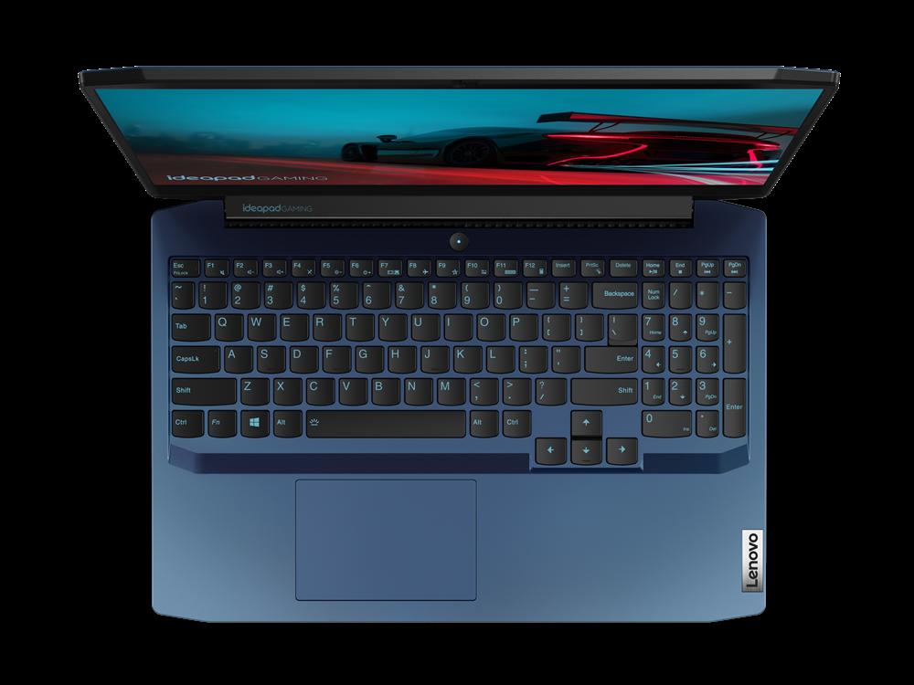 "Laptop Lenovo IdeaPad Gaming 3 15ARH05, 15.6"" FHD (1920x1080) IPS 250nits Anti-glare, 60Hz, AMD Ryzen 5 4600H (6C / 12T, 3.0 / 4.0GHz, 3MB L2 / 8MB L3), video NVIDIA GeForce GTX 1650 4GB GDDR6, RAM 1x 8GB SO- DIMM DDR4-3200, SSD 512GB SSD M.2 2280 PCIe 3.0x4 NVMe, no ODD, No Card reader, Stereo - imaginea 1"