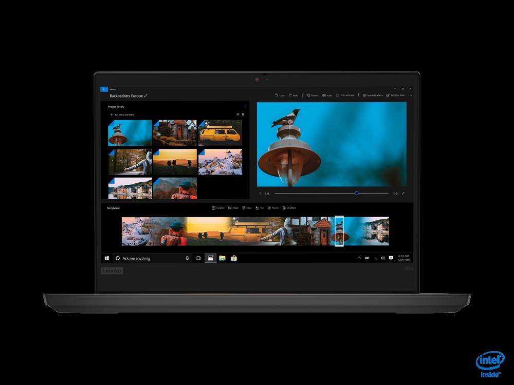 "Laptop Lenovo ThinkPad E14 Gen 2 (Intel), 14"" FHD (1920x1080) i5-1135G7 8GB 256GB UMA 1YD DOS - imaginea 1"