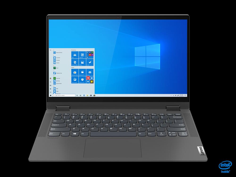 "Laptop Lenovo IdeaPad Flex 514ITL05, 14"" FHD (1920x1080) IPS 250nits Glossy, 45% NTSC, Intel Core i7-1165G7 (4C / 8T, 2.8 / 4.7GHz, 12MB), video Integrated Intel Iris Xe Graphics, RAM 16GB Soldered DDR4-3200, SSD 512GB SSD M.2 2280 PCIe 3.0x4 NVMe, no ODD, 4-in-1 Card Reader, Stereo speakers, 2W x2 - imaginea 5"