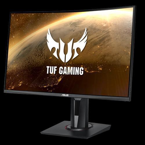 "Monitor 27"" ASUS VG27WQ, QHD 2560*1440, Gaming, VA, curbat 1500R, 16:9, 400 cd/mp, 3000:1, 178/178, 1 ms MPRT, 165 Hz, flicker free, Low Blue Light, FreeSync technology supported, Shadow Boost, DisplayHDR 400, boxe 2*2W, HDMI, DP, Kensington lock, VESA 100x100, culoare negru - imaginea 1"