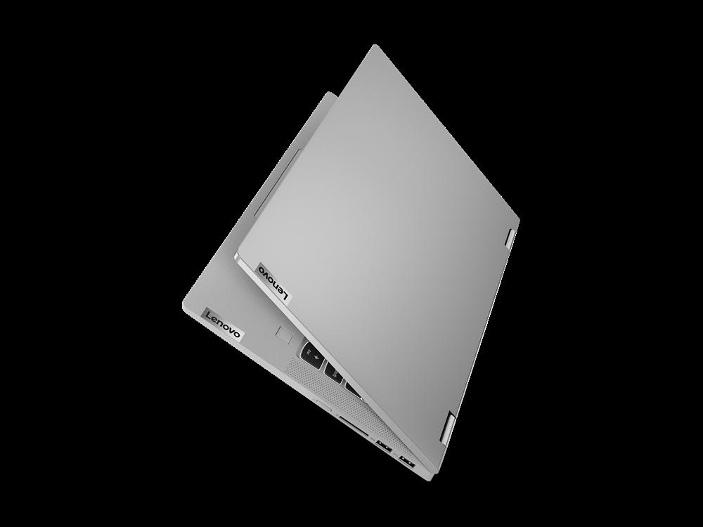 "Laptop Lenovo IdeaPad Flex 514ALC05, 14"" FHD (1920x1080) IPS 250nits Glossy, 45% NTSC, AMD Ryzen 3 5300U (4C / 8T, 2.6 / 3.8GHz, 2MB L2 / 4MB L3), video AMD Radeon Graphics, RAM 8GB Soldered DDR4-3200, SSD 256GB SSD M.2 2242 PCIe 3.0x4 NVMe, no ODD, 4-in-1 Card Reader, Stereo speakers, 2W x2, Dolby - imaginea 13"