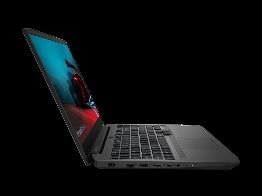 "Laptop Lenovo IdeaPad Gaming 3 15ARH05, 15.6"" FHD (1920x1080) IPS 250nits Anti-glare, 60Hz, AMD Ryzen 5 4600H (6C / 12T, 3.0 / 4.0GHz, 3MB L2 / 8MB L3), video NVIDIA GeForce GTX 1650 4GB GDDR6, RAM 1x 8GB SO- DIMM DDR4-3200, SSD 512GB SSD M.2 2280 PCIe 3.0x4 NVMe, no ODD, No Card reader, Stereo - imaginea 14"