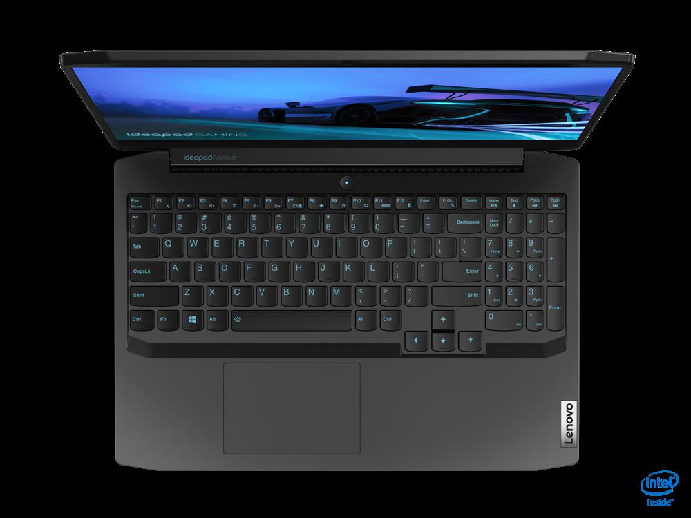 "Laptop Lenovo IdeaPad Gaming 3 15IMH05, 15.6"" FHD (1920x1080) IPS 250nits Anti-glare, 60Hz, Intel Core i5-10300H (4C / 8T, 2.5 / 4.5GHz, 8MB), video NVIDIA GeForce GTX 1650 Ti 4GB GDDR6, RAM 2x 8GB SO-DIMM DDR4-2933, SSD 512GB SSD M.2 2280 PCIe 3.0x4 NVMe, no ODD, No Card reader, Stereo speakers - imaginea 10"