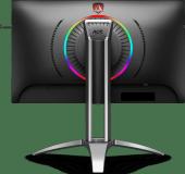 "Monitor 27"" AOC AG273QX, Gaming, VA, 16:9, QHD 2560x1440, 165 Hz, WLED, 1 ms, 400 cd/m2, 178/178, 3000:1/ 50M:1, Display HDR 400, 2*HDMI, 2*DP, 4*USB, microphone in, headphone out, boxe 2*5W, cabluri HDMI/ DP/ audio/ USB incluse, pivot, VESA 75*75, culoare negru+ rosu - imaginea 2"