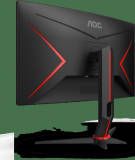 """Monitor 27"""" AOC C27G2ZU/BK, FHD 1920*1080, 240 Hz, 0.5 ms, VA, Curbat 1500R, WLED, 16:9, 300 cd/mp, 3000:1, 178/178, flicker free, 2*HDMI, DP, 4* USB, headphone out, boxe 2*2W, cabluri HDMI/ DP incluse, VESA 100x100, culoare negru+ rosu - imaginea 2"""